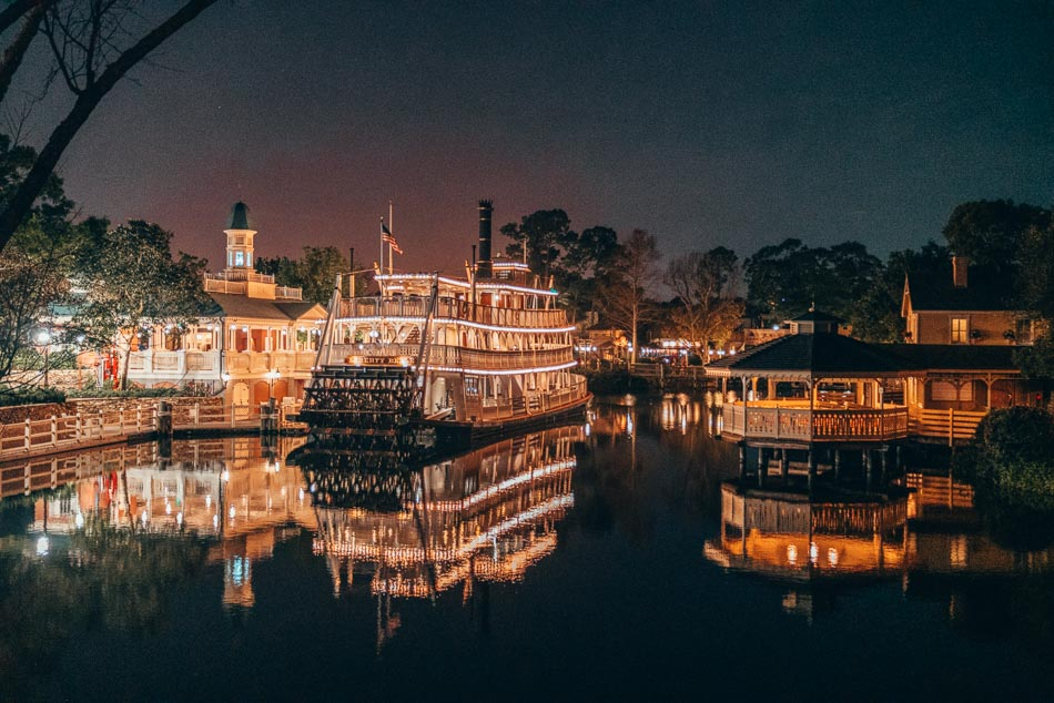 Liberty Belle at Night in Walt Disney World Resort Orlando Florida