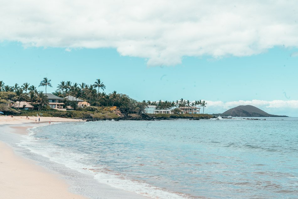 Beach view in Maui, Hawaii.