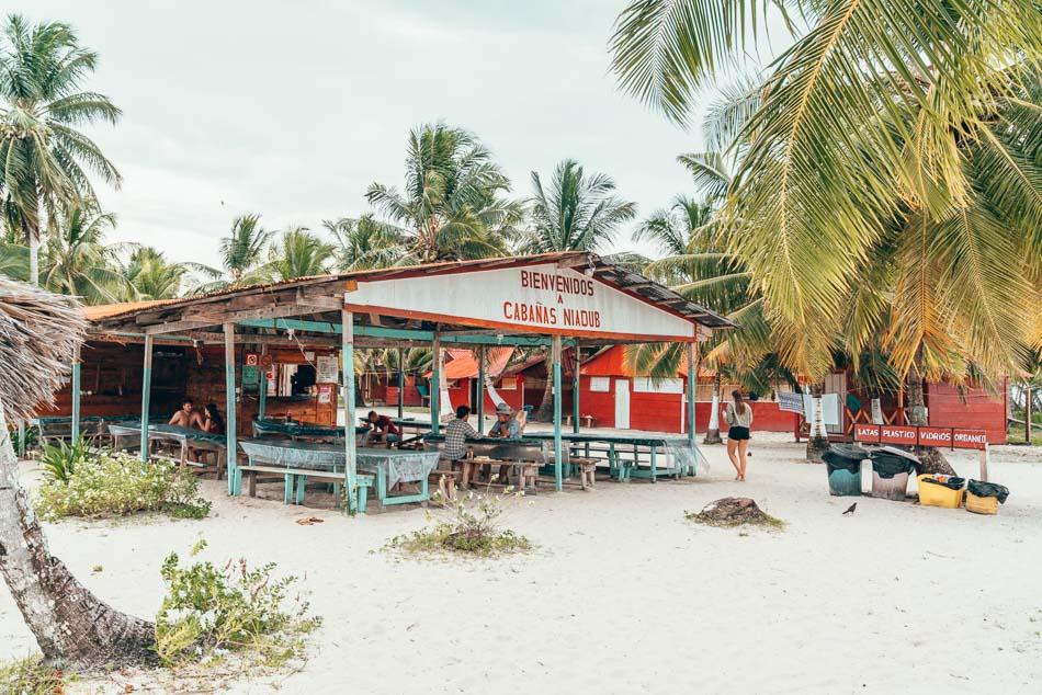 Cafeteria hut in the San Blas Islands, Guna Yala, Panama.