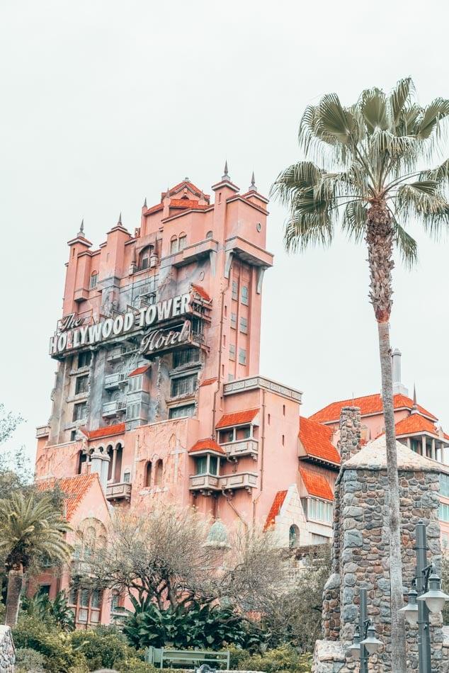 Tower of Terror in Hollywood Studios at Walt Disney World in Orlando, Florida.
