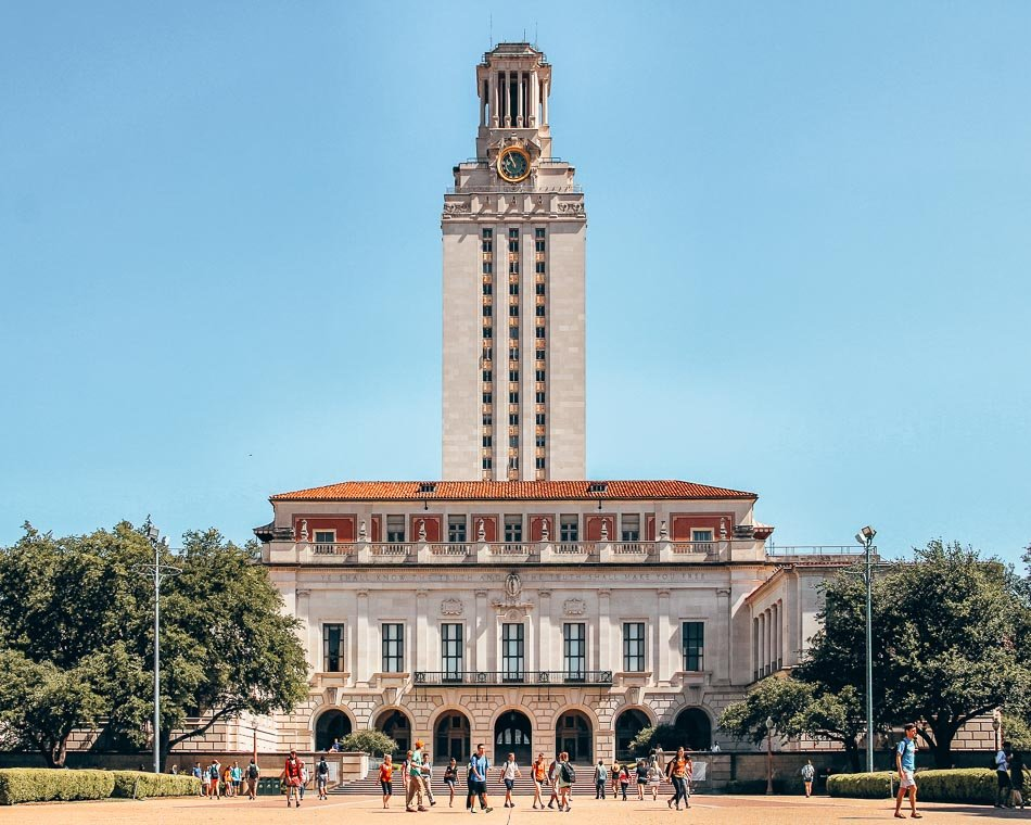 On campus at the University of Texas at Austin, Texas.