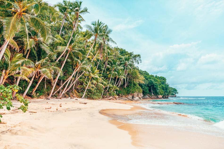 Beautiful beach in Panama on a virtual vacation.
