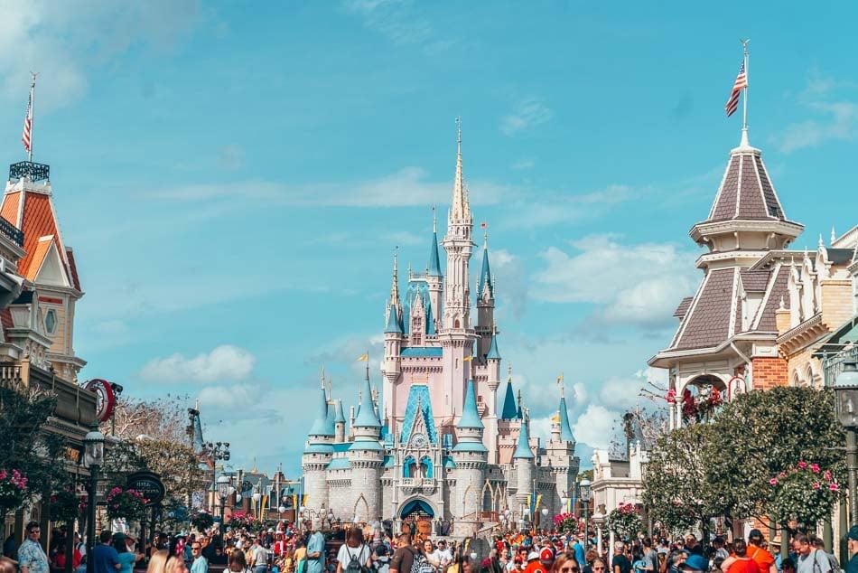 Cinderella's Castle in Magic Kingdom, Disney World, Orlando, Florida.