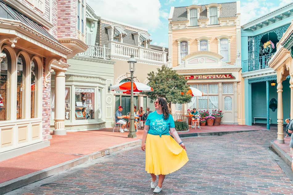 Main Street USA Alley in Magic Kingdom, Disney World, Florida.