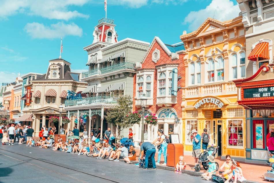 Main Street USA in Magic Kingdom on a Virtual Disney World tour.