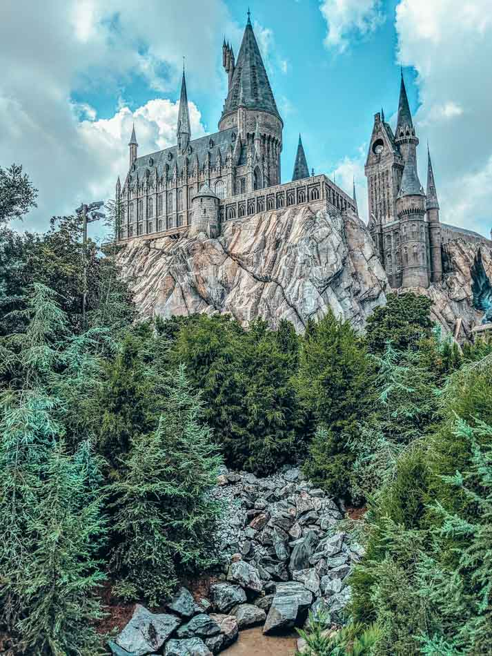 Hogwarts School of Witchcraft and Wizardry in Hollywood Studios Orlando, Florida.