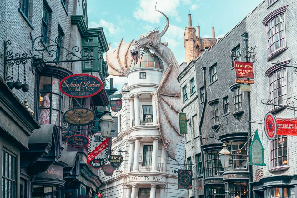 Diagon Alley in the Wizarding World of Harry Potter in Hollywood Studios Orlando