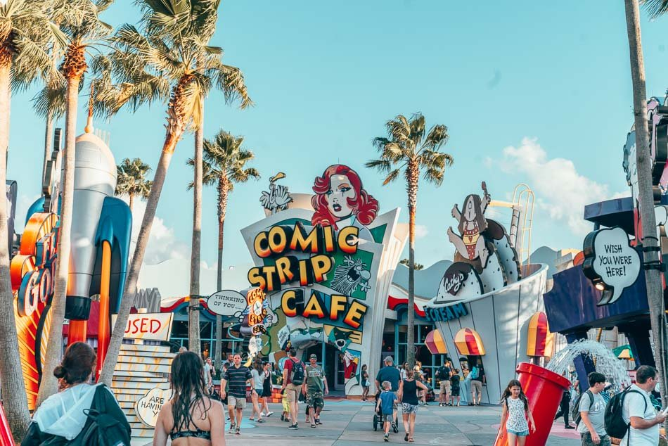 Marvel Super Hero Island at Universal Studios Orlando, Florida.