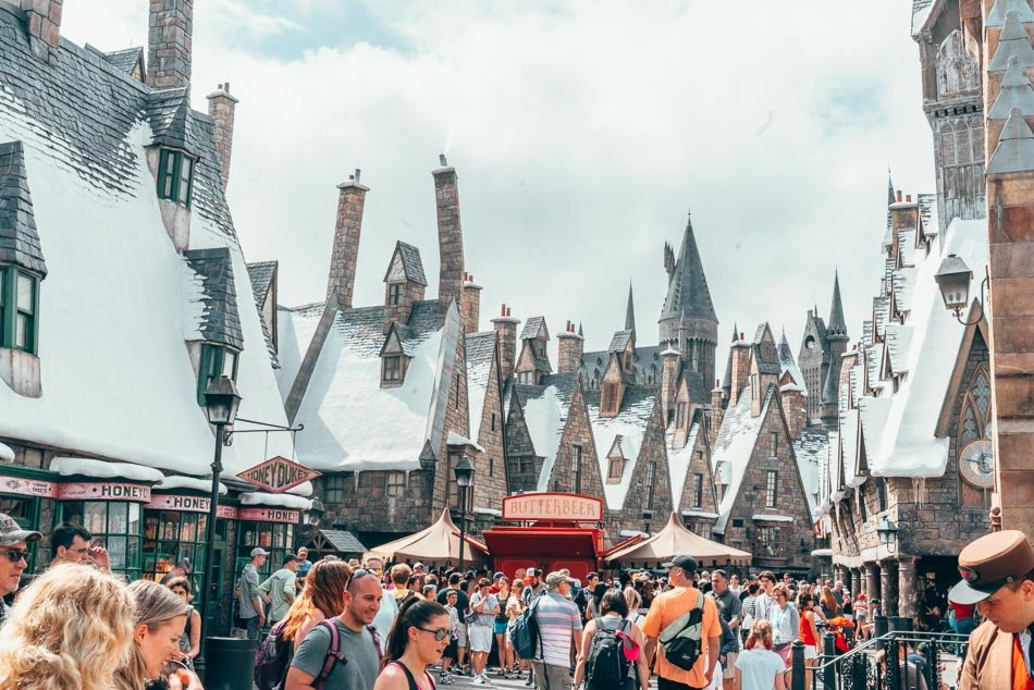 Hogsmeade in the Wizarding World of Harry Potter in Universal Studios Orlando