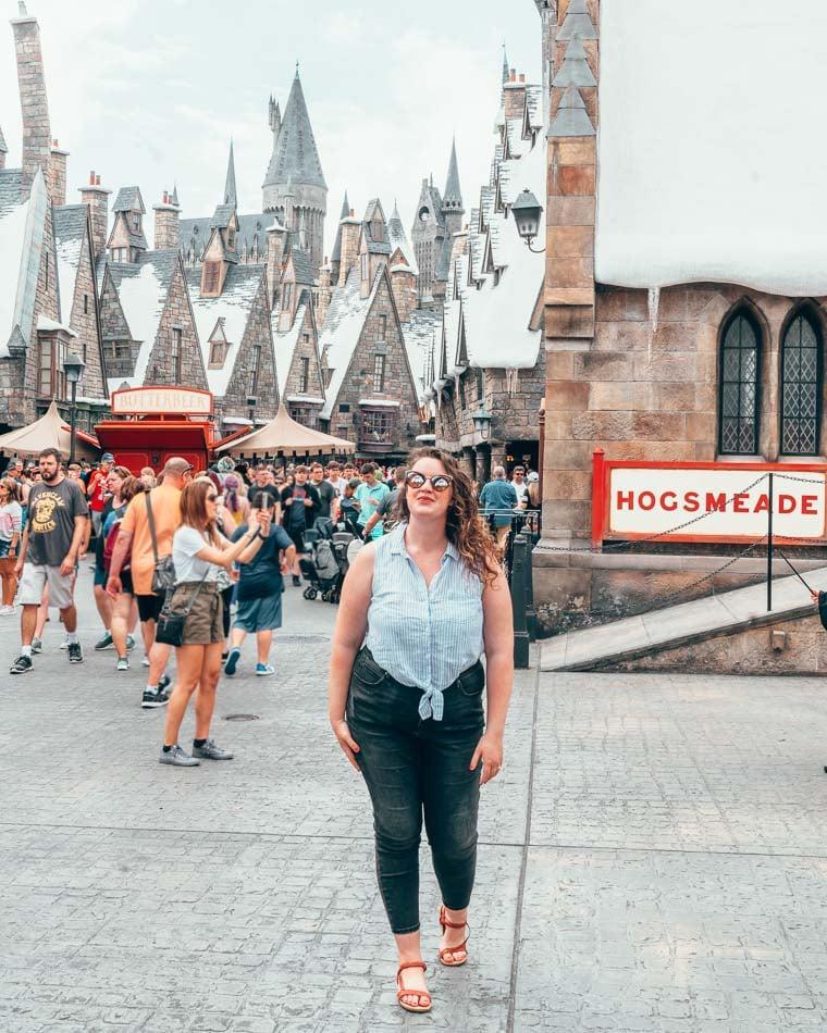 Wearing Teva sandals in Universal Studios Orlando.