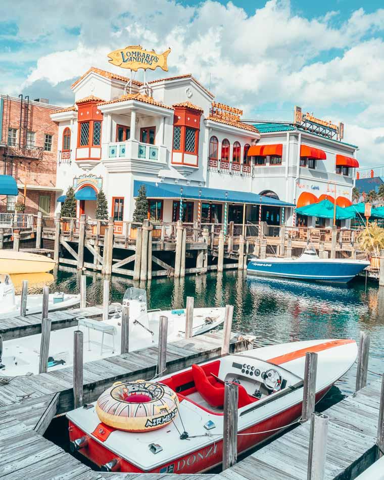 Lombard's Landing in San Francisco area, Universal Studios Orlando, Florida.