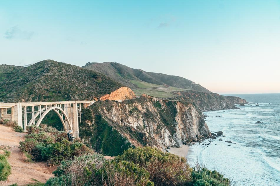 Bixby Bridge at sunset on a California Highway One Road Trip