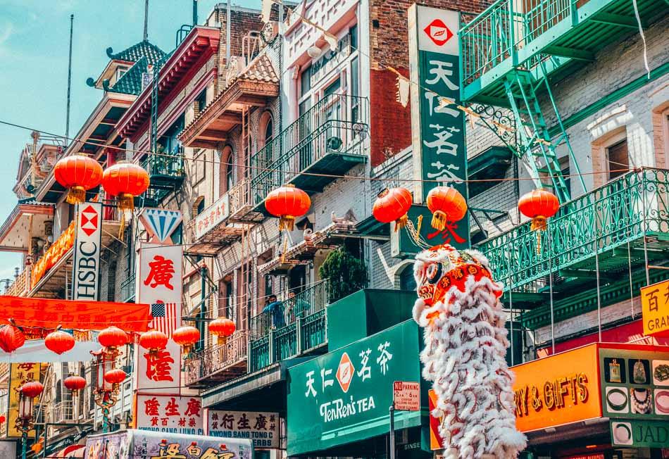 San Francisco's Chinatown, signs and lanterns