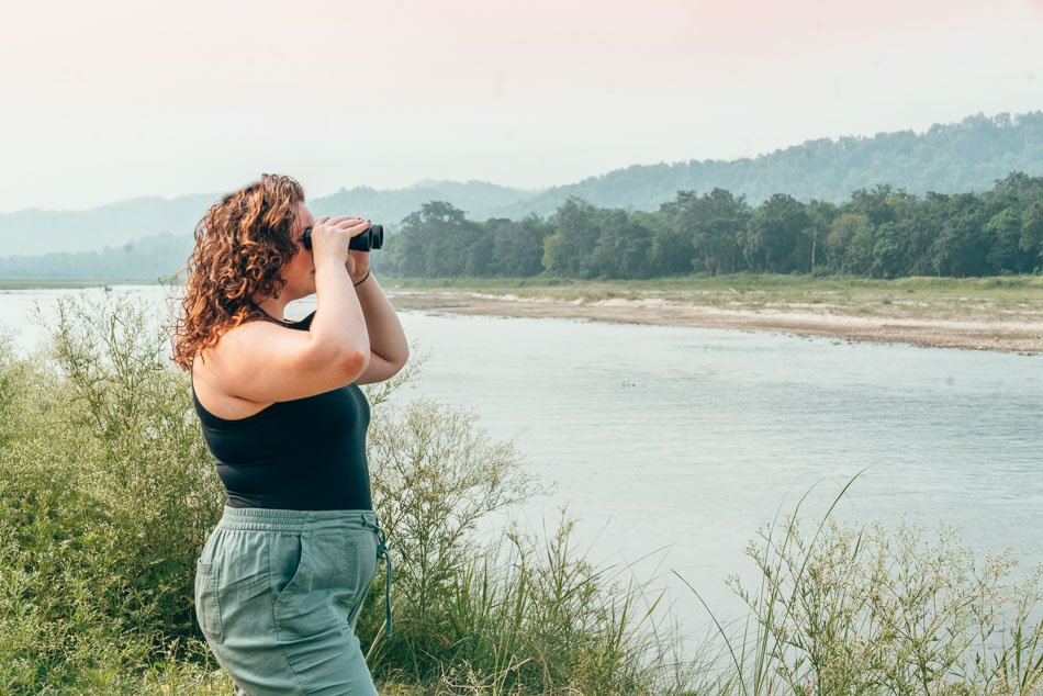 Looking for wildlife in Chitwan National Park, Nepal