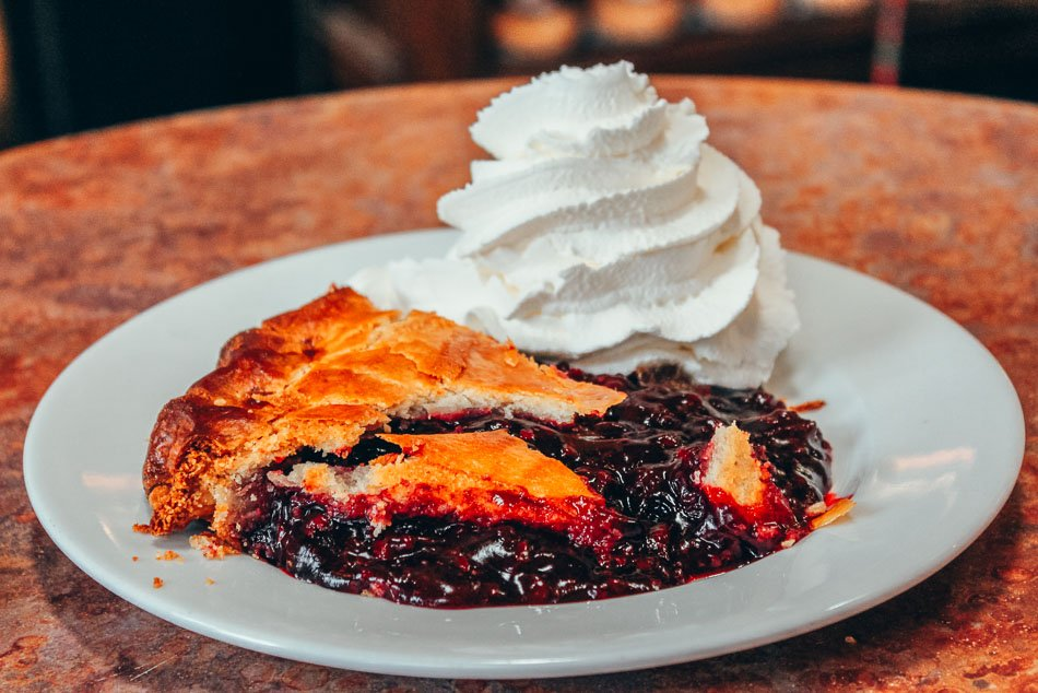 Olalliberry Pie and Whipped Cream Cambria California Central Coast