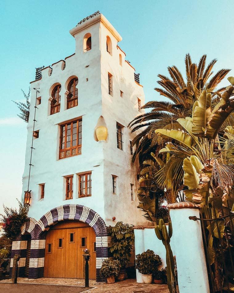 The historic Santa Barbara Mission