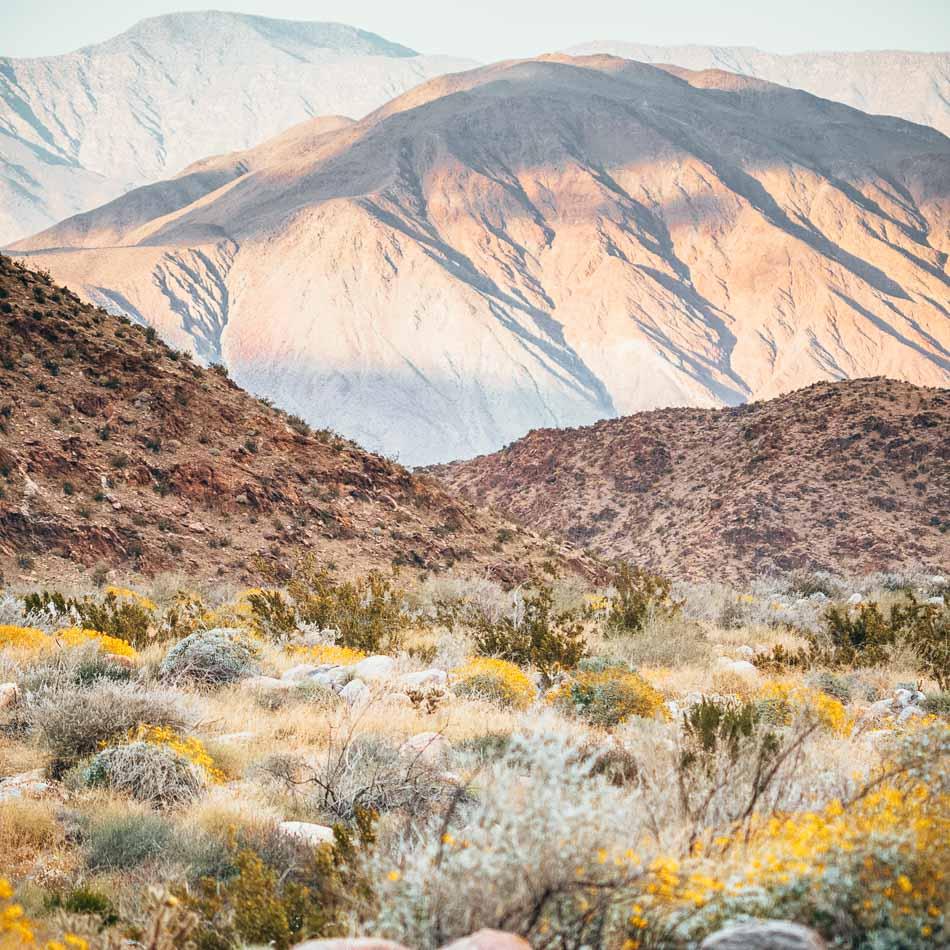 Mountain view in the Colorado Desert, Anza Borrego State Park, California