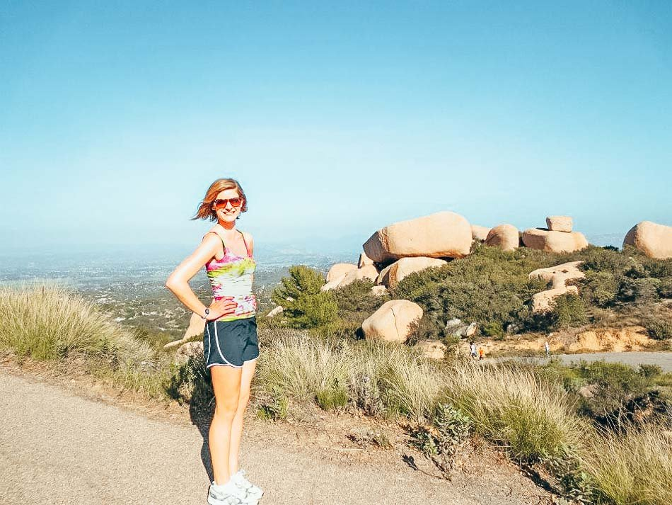Today's contributing author, Shelley, hiking Mount Woodson, one of the best hiking trails in Southern California!