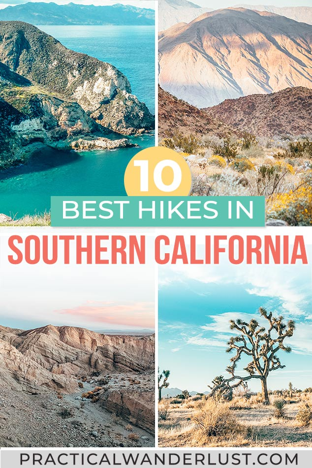 The 10 best Southern California hikes near Los Angeles and San Diego, from Joshua Tree to the Channel Islands to Anza Borrego to Mount Baldy to Torres Pines and more. Go hiking in California!
