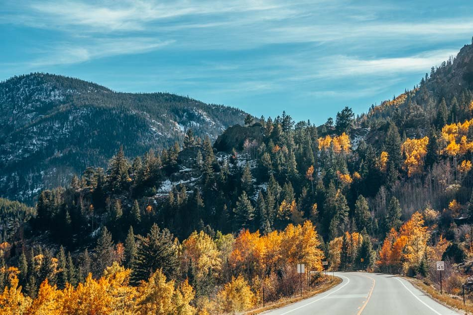 Driving the Cache La Padre Scenic Byway in the fall, one of the best things to do in Fort Collins!