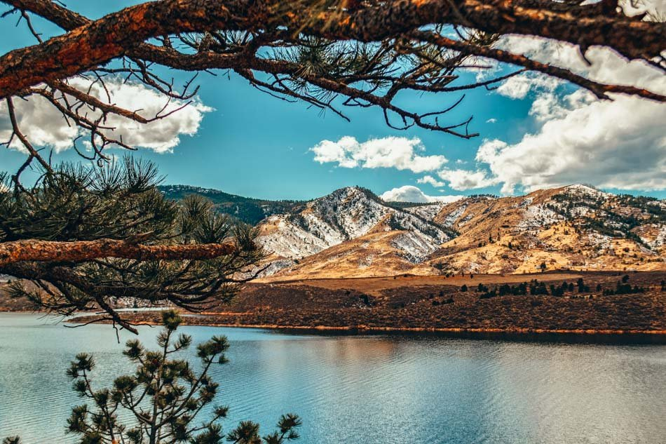 View from trail at Horsetooth Reservoir in Colorado