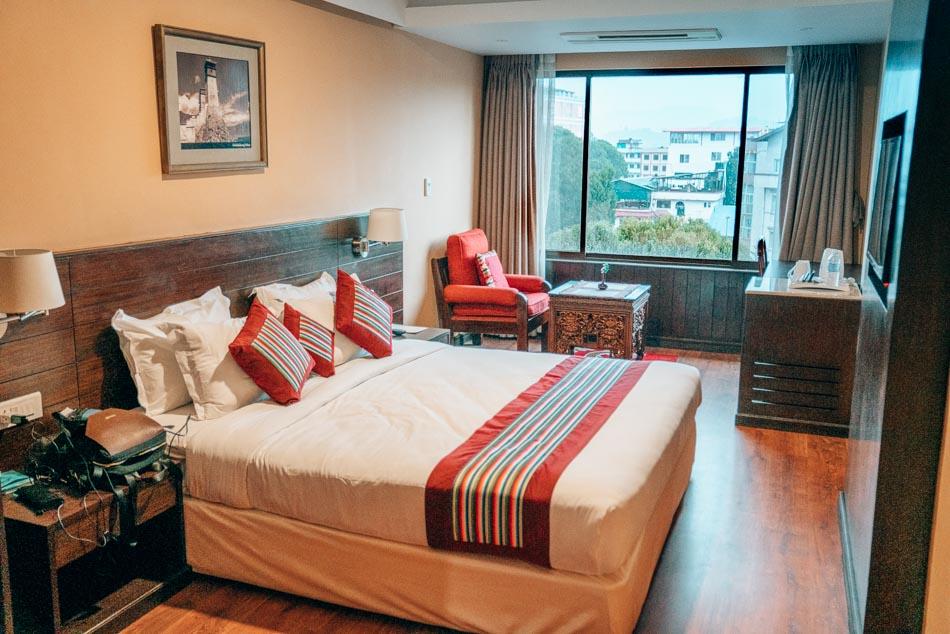Hotel room in Kathmandu, Nepal