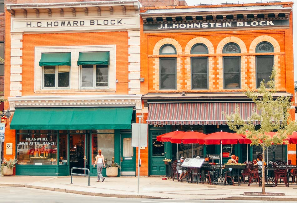 Shop storefronts in Old Town Fort Collins