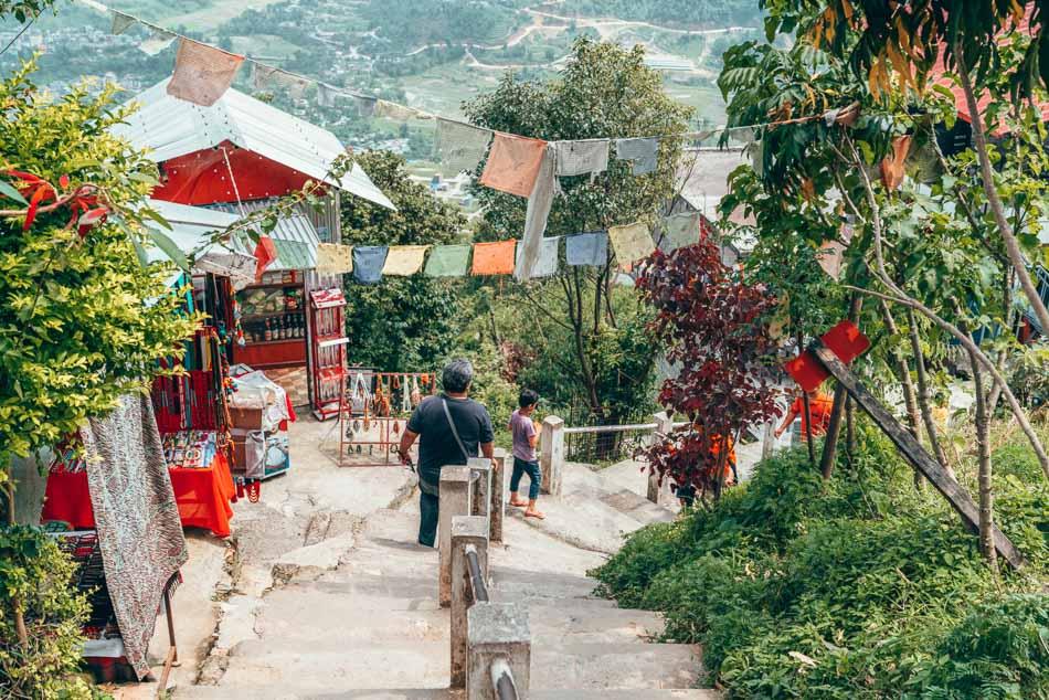Path Down from World Peace Pagoda near Pokhara, Nepal
