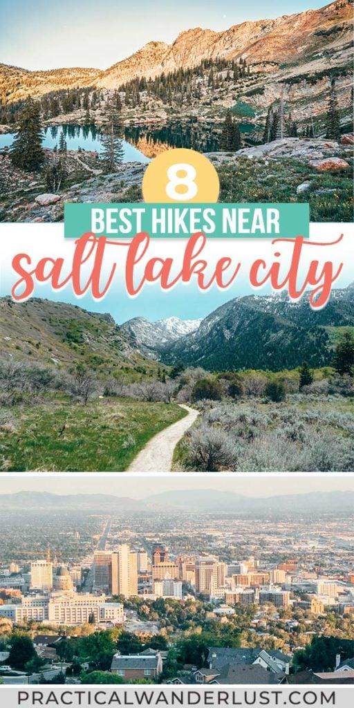 The best Salt Lake City hikes, from Ensign Peak to Cecret Lake to Bells Canyon! Waterfalls, mountains, and more hikes near Salt Lake City, Utah.