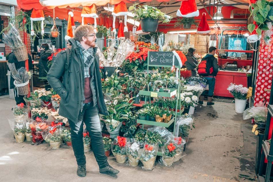 Jean Talon Market in Montreal, Canada in the winter.