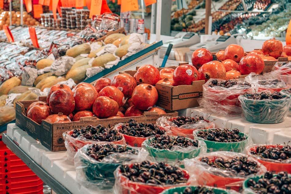Fruit at Jean Talon Market in Montreal, Canada.