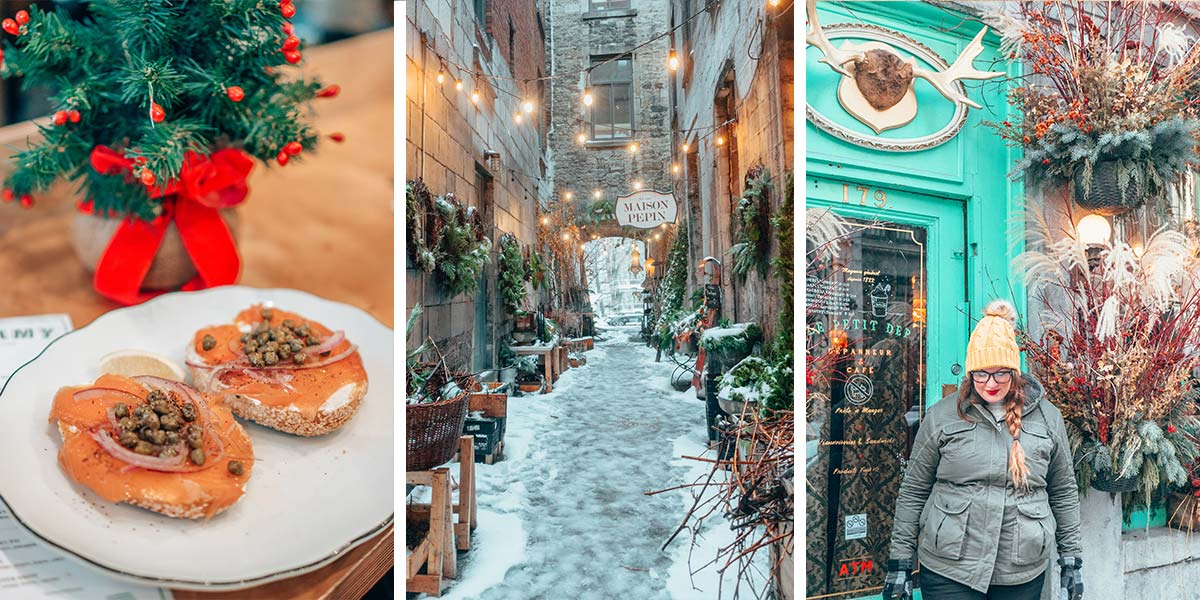 The ultimate Montreal winter guide: Montreal, Canada is a winter wonderland, and one of the best places to visit for winter cheer! From visiting Christmas Markets to ice skating on frozen lakes to rolling hot maple syrup in snow at a sugar shack to relaxing in an outdoor thermal bath, here are all the coziest, best things to do in Montreal in the winter.