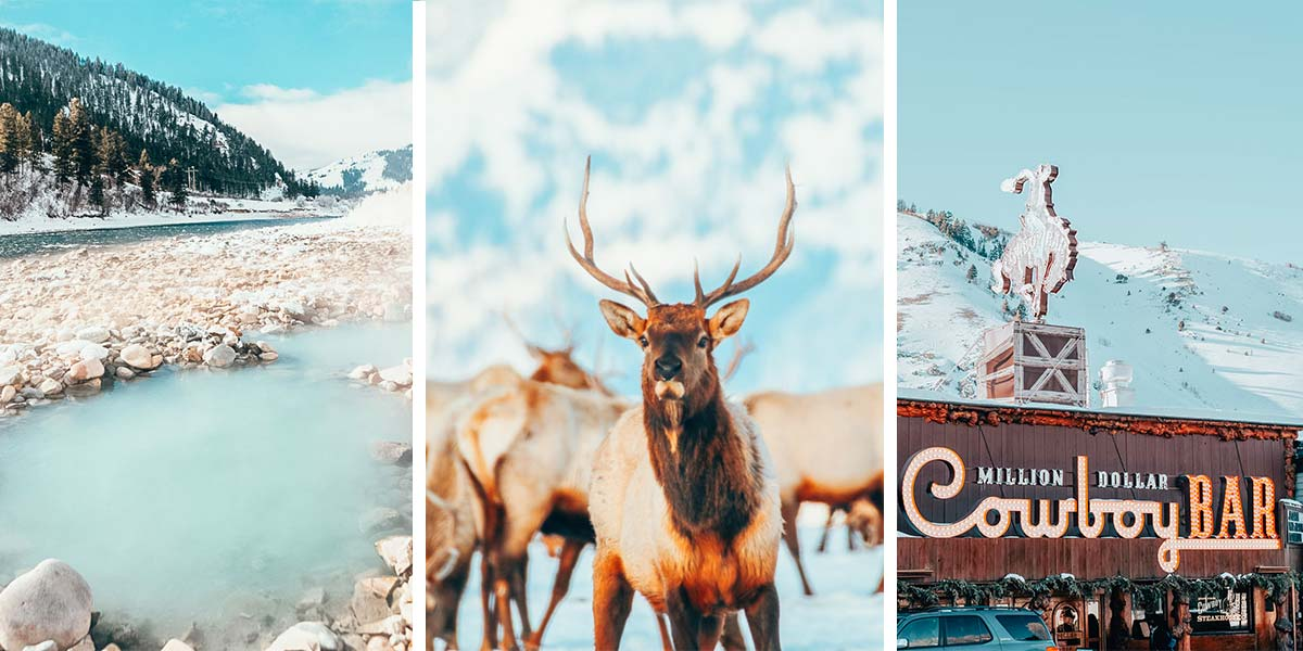 Jackson Hole winter travel guide: here's everything you need to know about things to do in Jackson Hole in the winter, from hot springs to Grand Teton National Park.