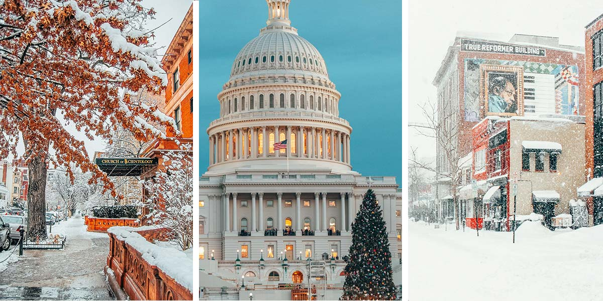 Washington DC in the winter travel guide to help you plan a trip to spend Christmas in Washington DC!