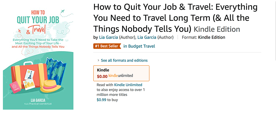 Photo evidence that How to Quit Your Job & Travel was a best-seller.