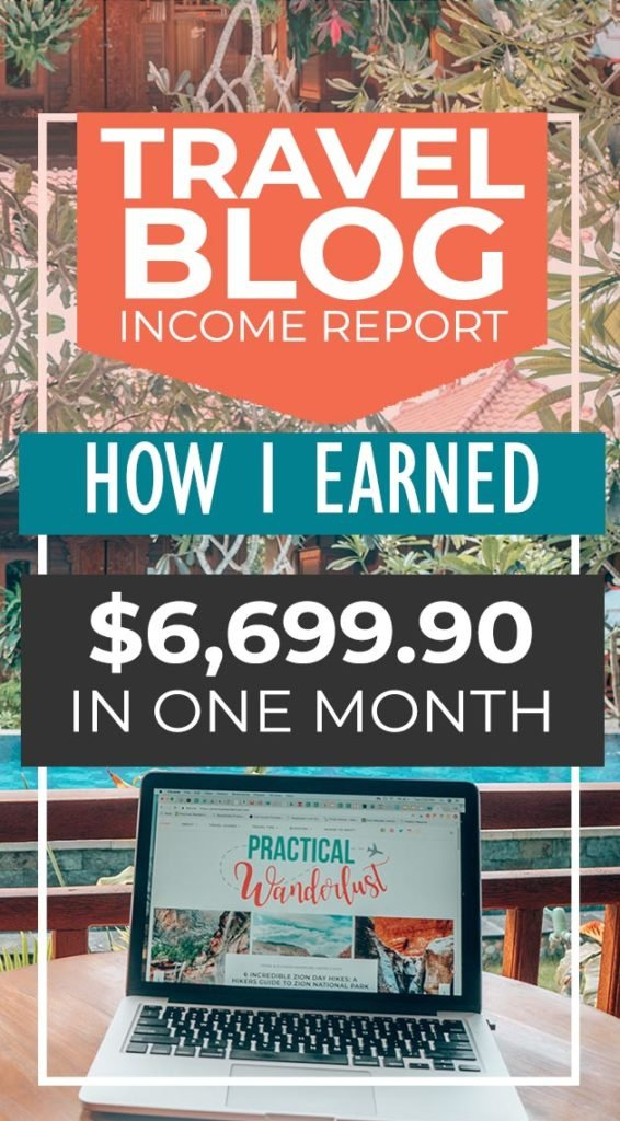 How did my travel blog earn me almost $7,000 in July? How much did I spend? Find out in my travel blog income report for July 2018! #travelblog #blogging
