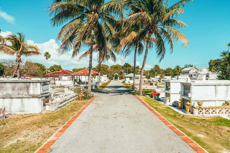 The Key West Cemetery in Key West, Florida.