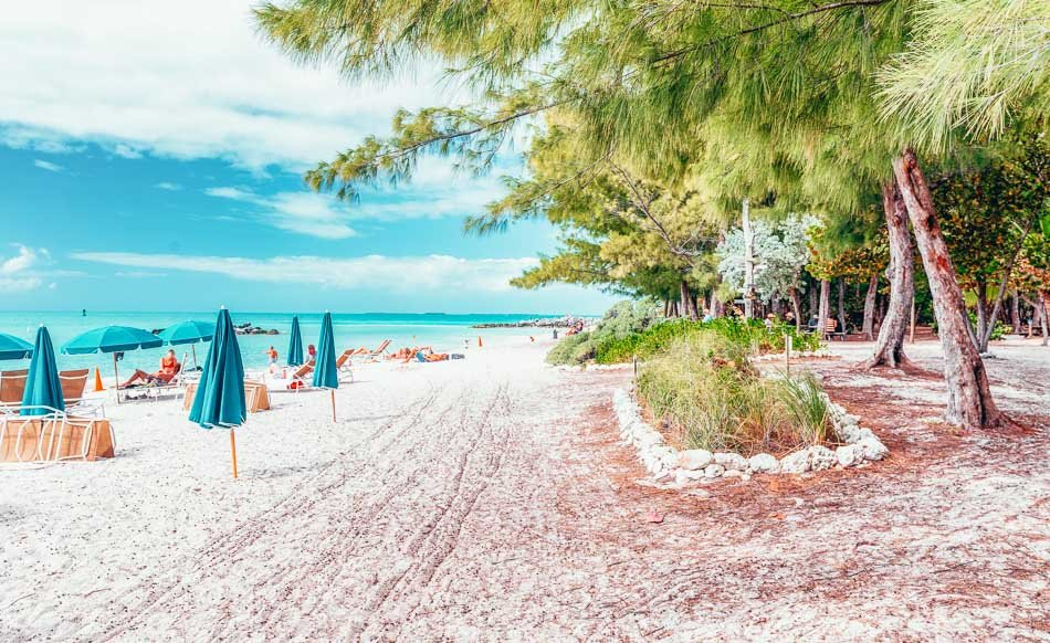 Coastline of Fort Zachary State Park in Key West, Florida