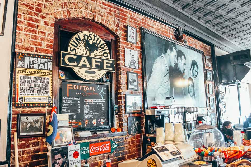 Sun Studios in Memphis, Tennessee, where Elvis Presley got his start.