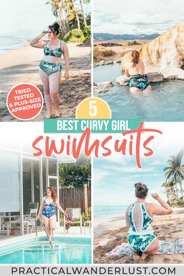 Swimsuits for thick girls! The 5 best swimsuits for curvy figures, tried & tested by a plus sized woman. Plus, where to shop for plus size swimwear.