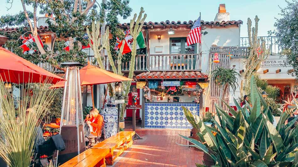 Fiesta de Reyes restaurant patio in Old Town San Diego, California
