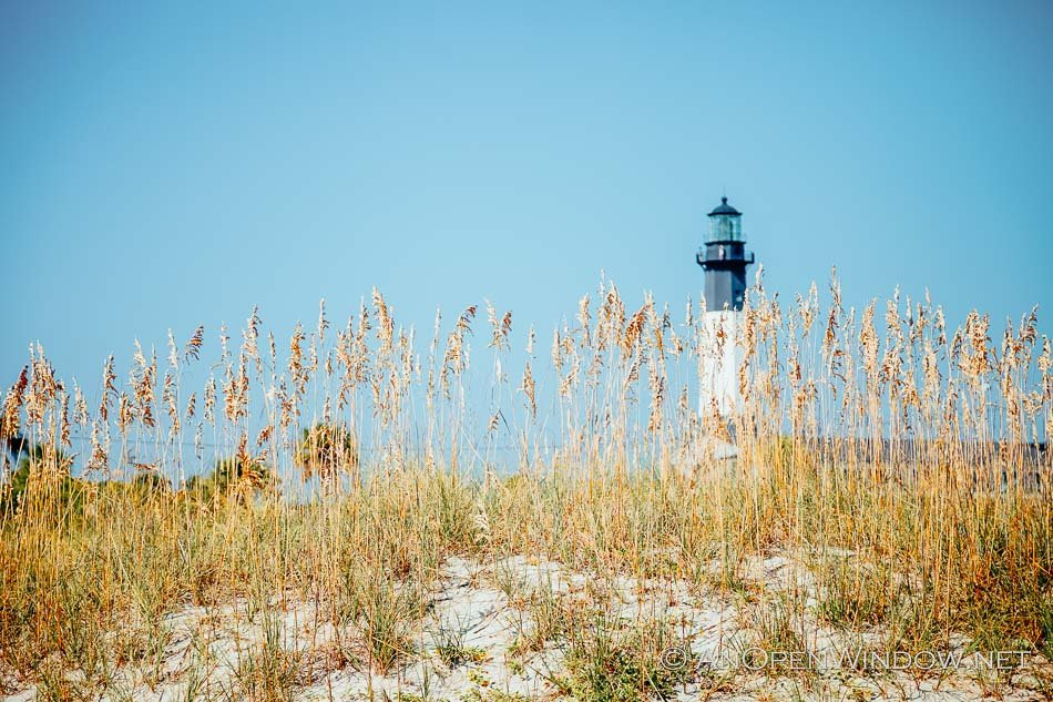 View from the beach of the Tybee Island Lighthouse in Gerogia
