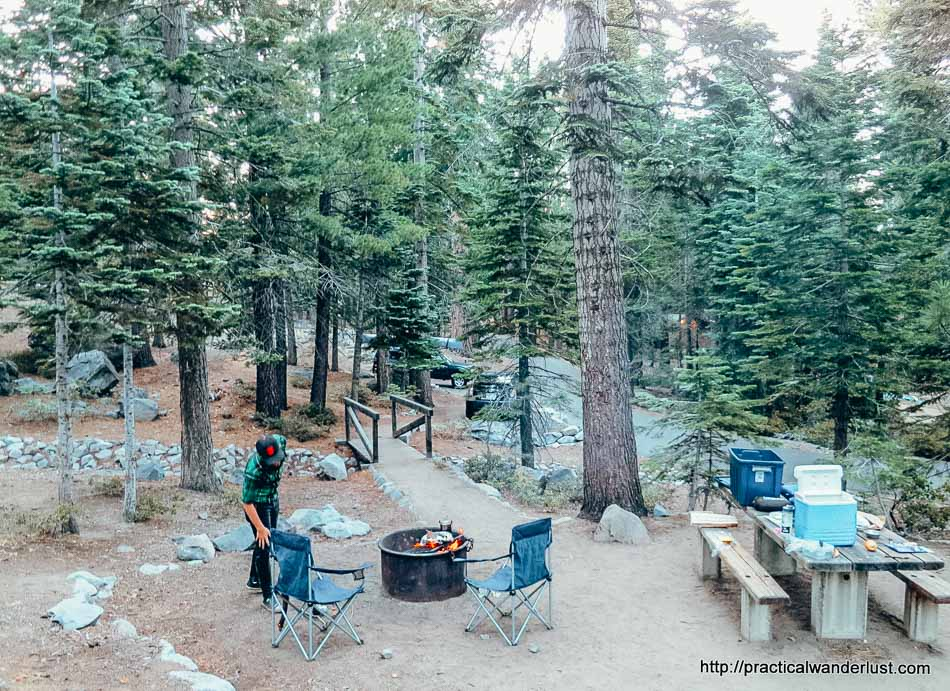 Camping in DL Bliss State Park Lake Tahoe California in the Summer