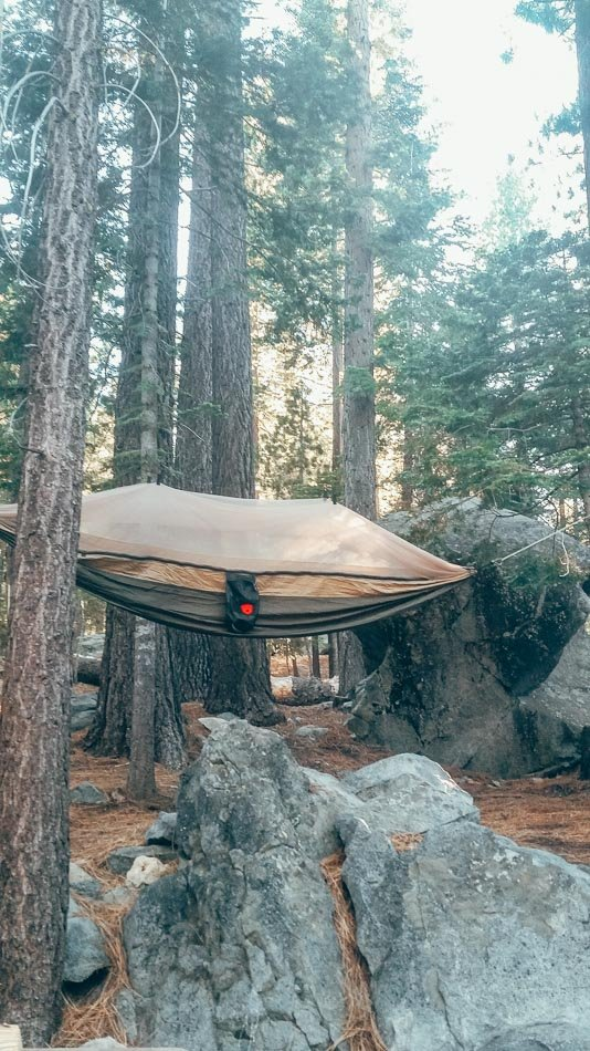 Hammock Camping in DL Bliss State Park Lake Tahoe California in the Summer