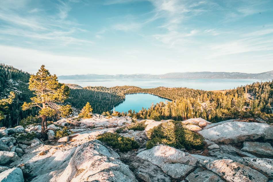 Emerald Bay at Golden Hour in Lake Tahoe in the Summer