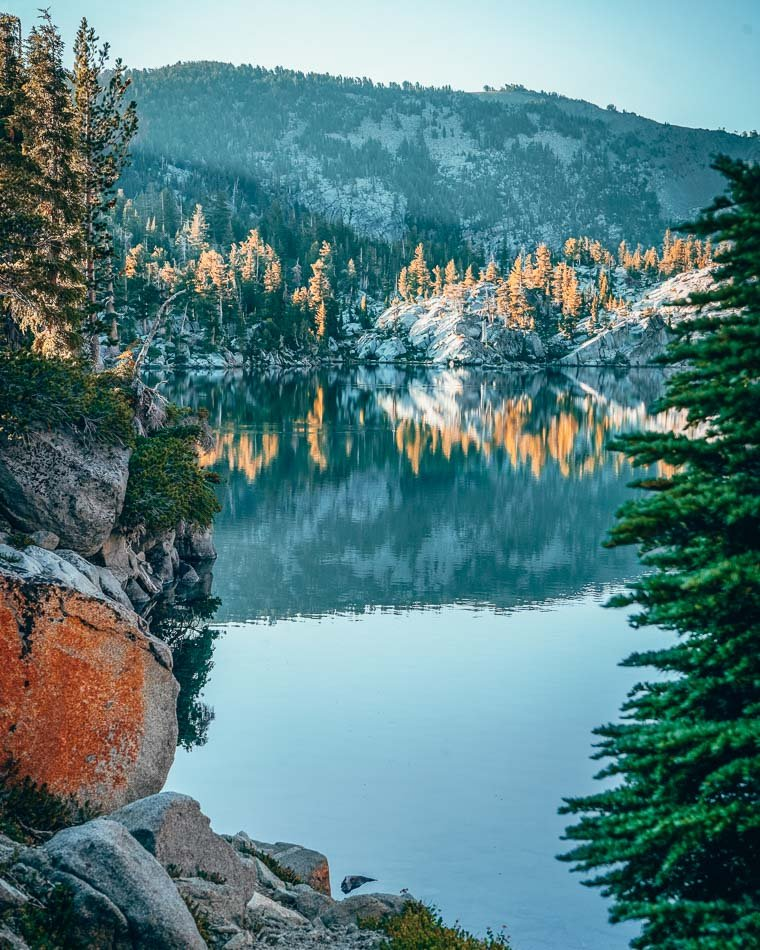 Lake Fontanillis in Desolation Wilderness near Lake Tahoe, California