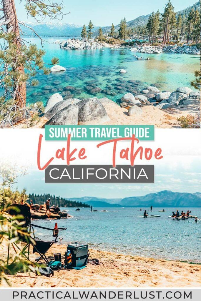 Crystal-clear aquamarine water. Sandy beaches. Towering pine trees. Snow-capped mountains. Ringed by white-sand beaches and trails crisscrossing through sequoia forests along sheer granite cliffs, the best way to experience Lake Tahoe in the summer is outside: on a trail, on a boat, or on a beach. Our massive Lake Tahoe summer travel guide has everything you need to know to plan your trip, and all the best Lake Tahoe summer activities!