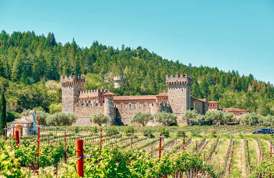 Castello di Amorosa Tuscan inspired castle winery in Napa, California.