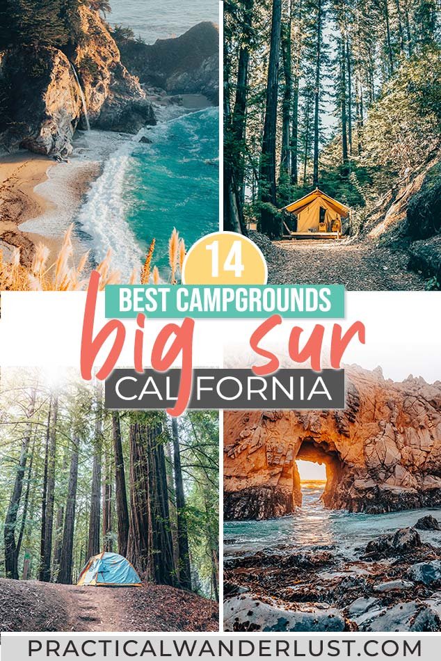 The ultimate Big Sur camping guide! The 14 best Big Sur campgrounds and everything you need to know about camping in Big Sur, California from redwoods to the beach.