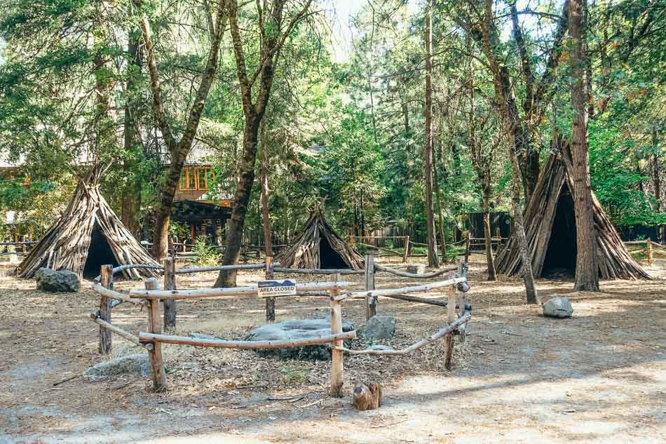 Indian Village of the Ahwahnee in Yosemite National Park, CA